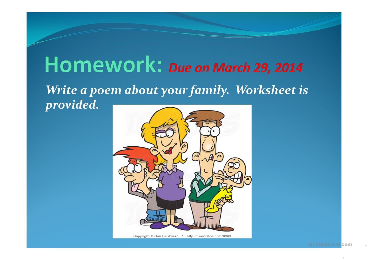 Families Of The World Worksheet