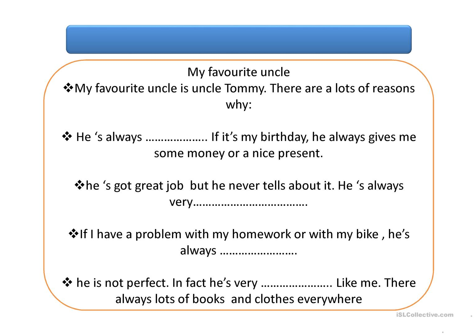 Friendship Adjectives Worksheet