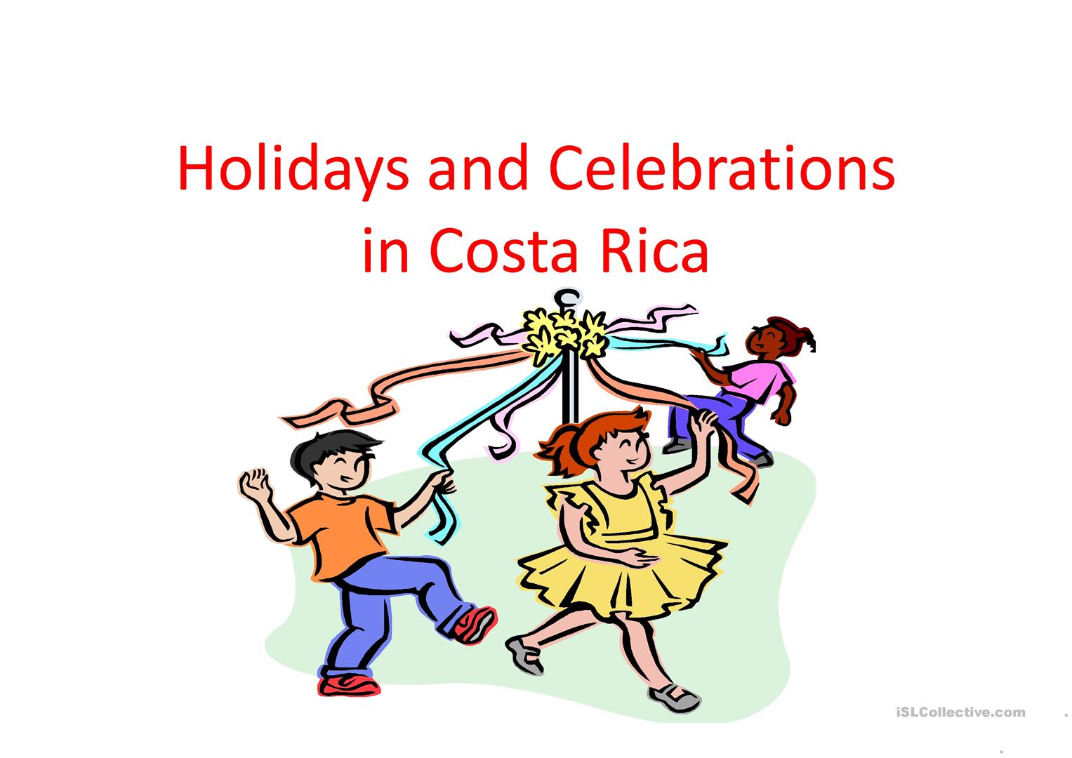 Holidays And Celebrations In Costa Rica