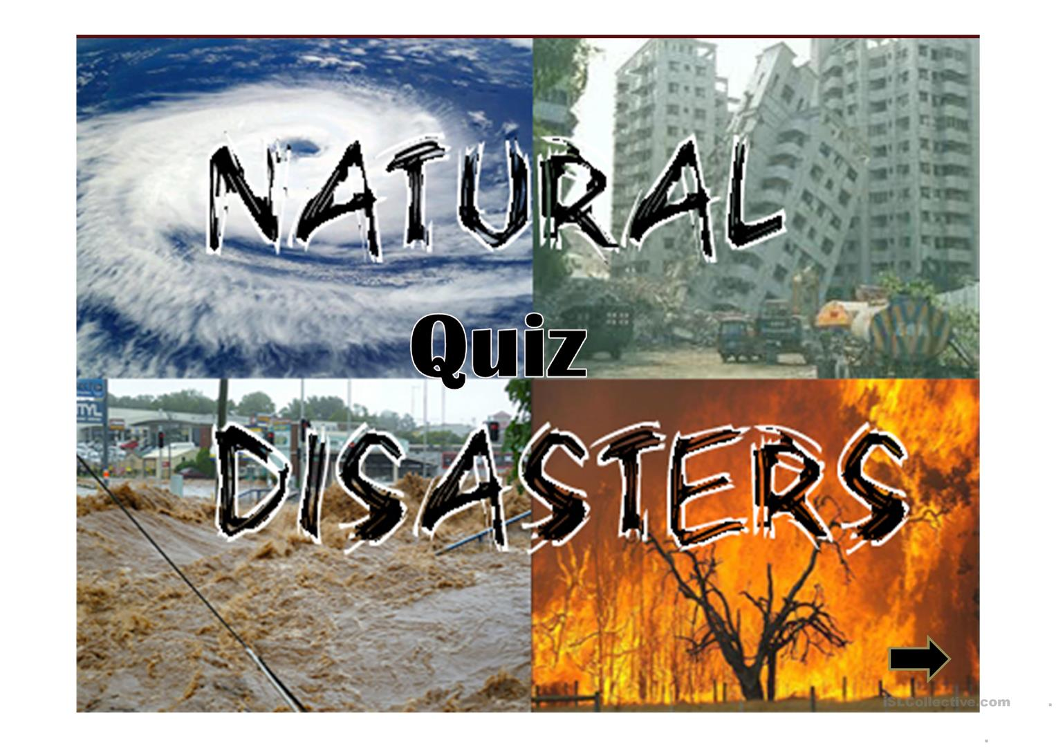 Natural Disasters Quiz Ppt