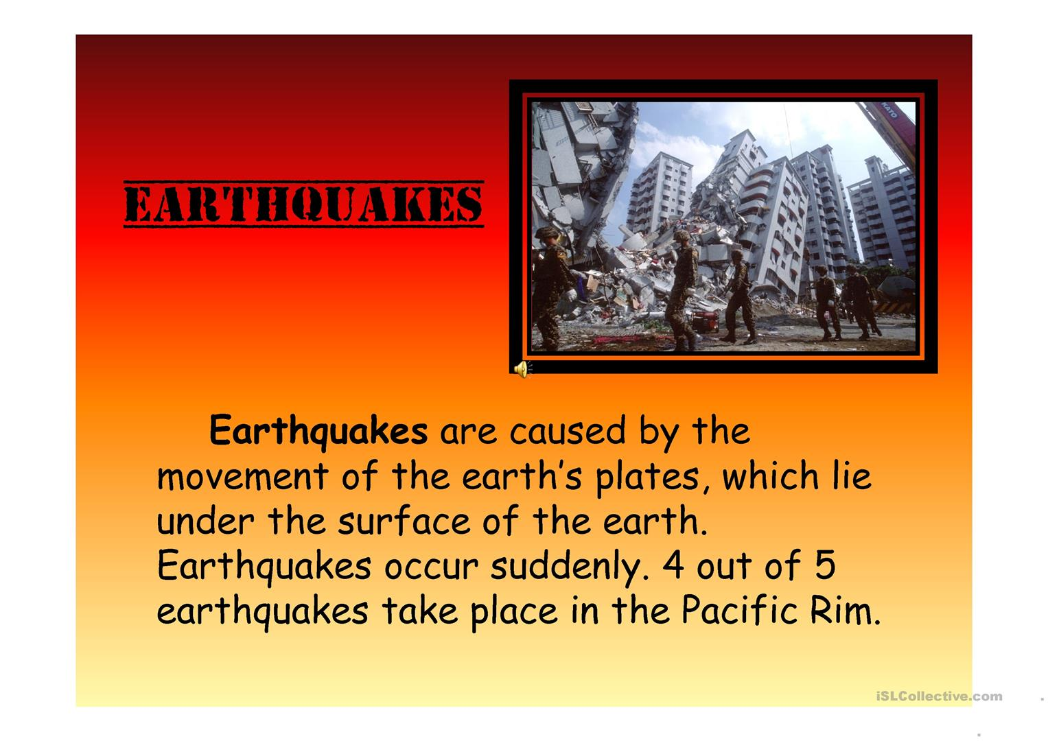 Ppt Natural Disasters Animated Presentation Worksheet