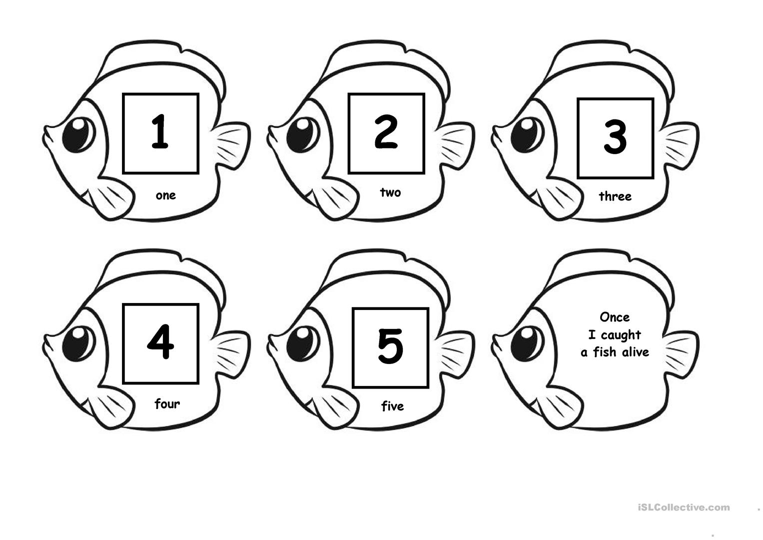 1 2 3 4 5 Once I Caught A Fish A Live Worksheet