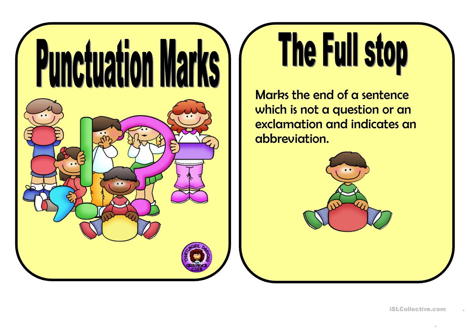 Punctuation Marks Worksheet
