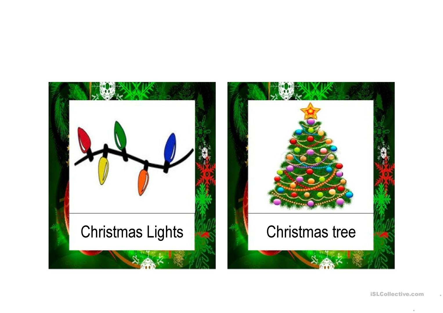 Christmas Vocabulary Flashcards Ppt Worksheet