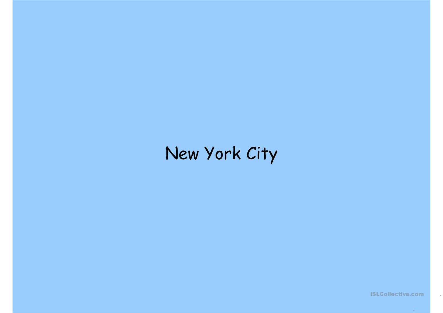 New York And The American Dream Worksheet