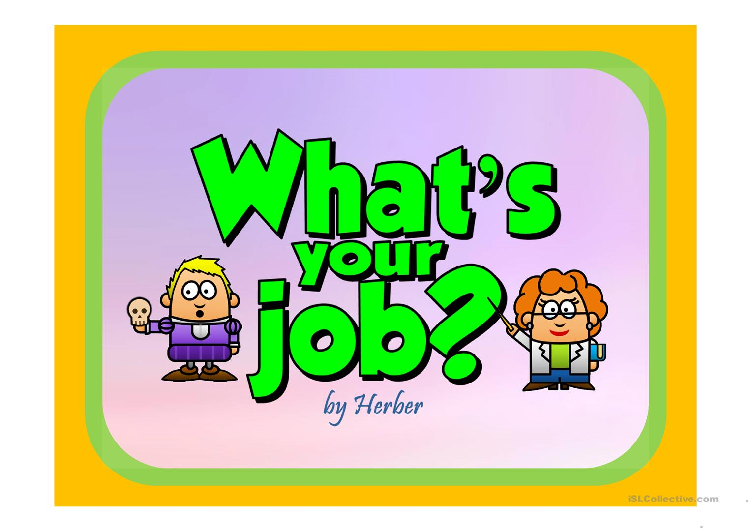 What S Your Job Worksheet