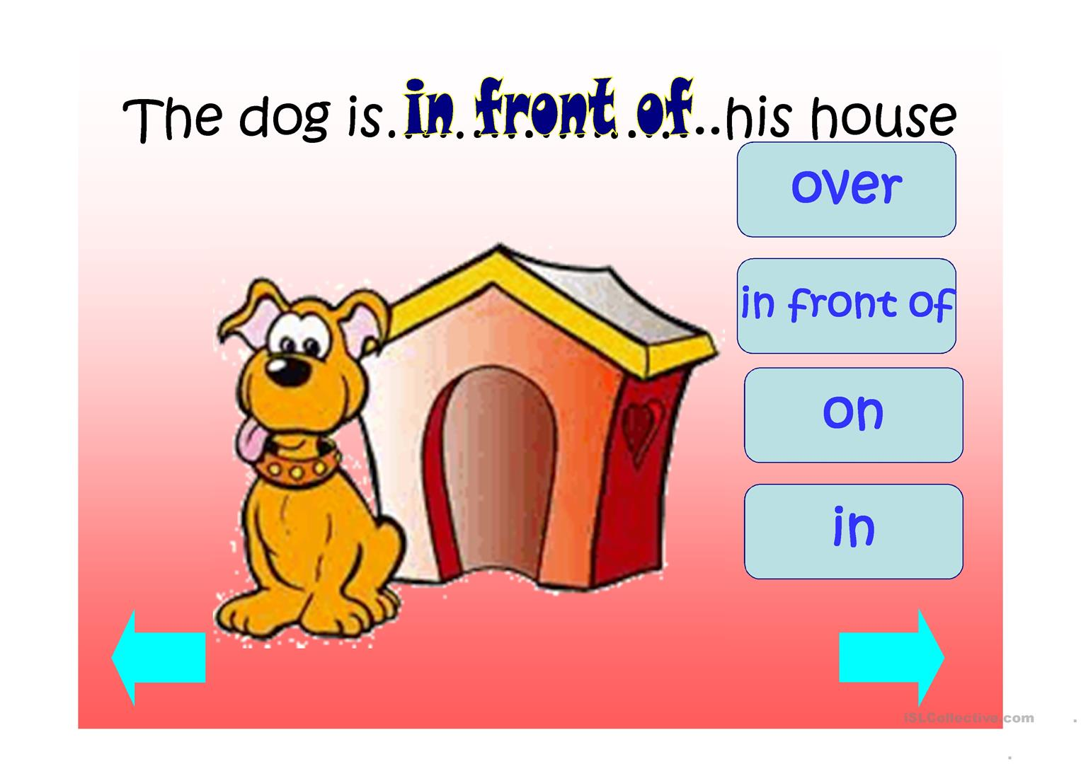 Prepositions Of Place Ppt Game