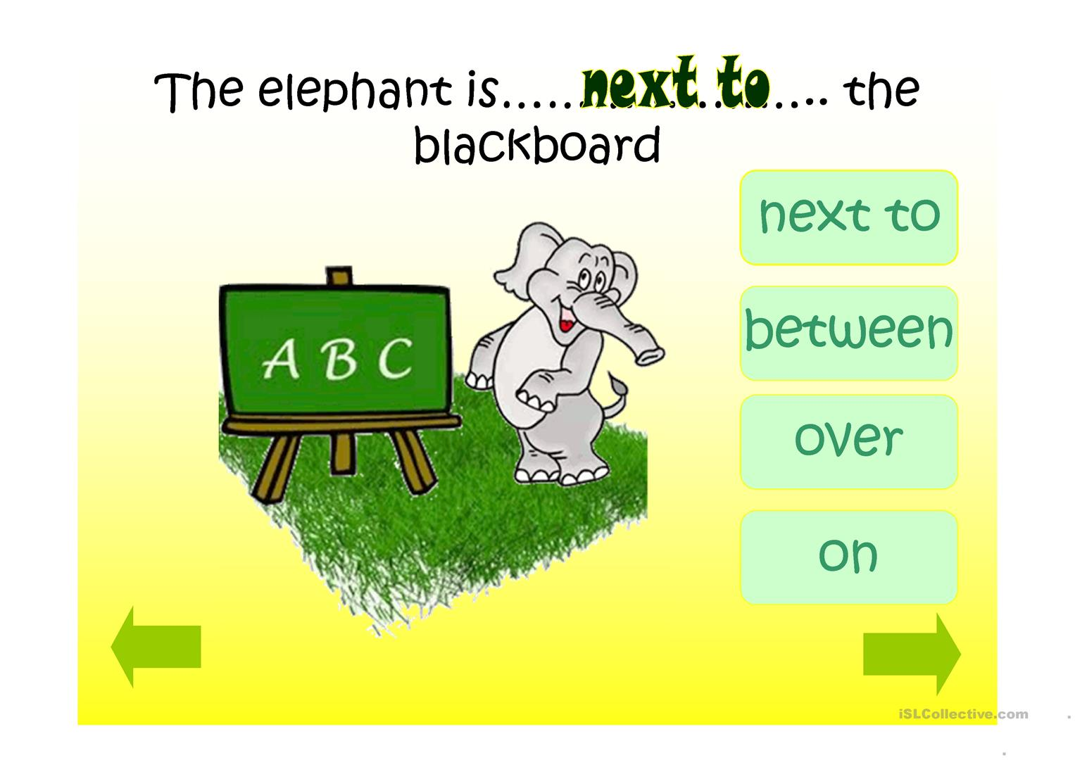 Prepositions Of Place Ppt Game Worksheet