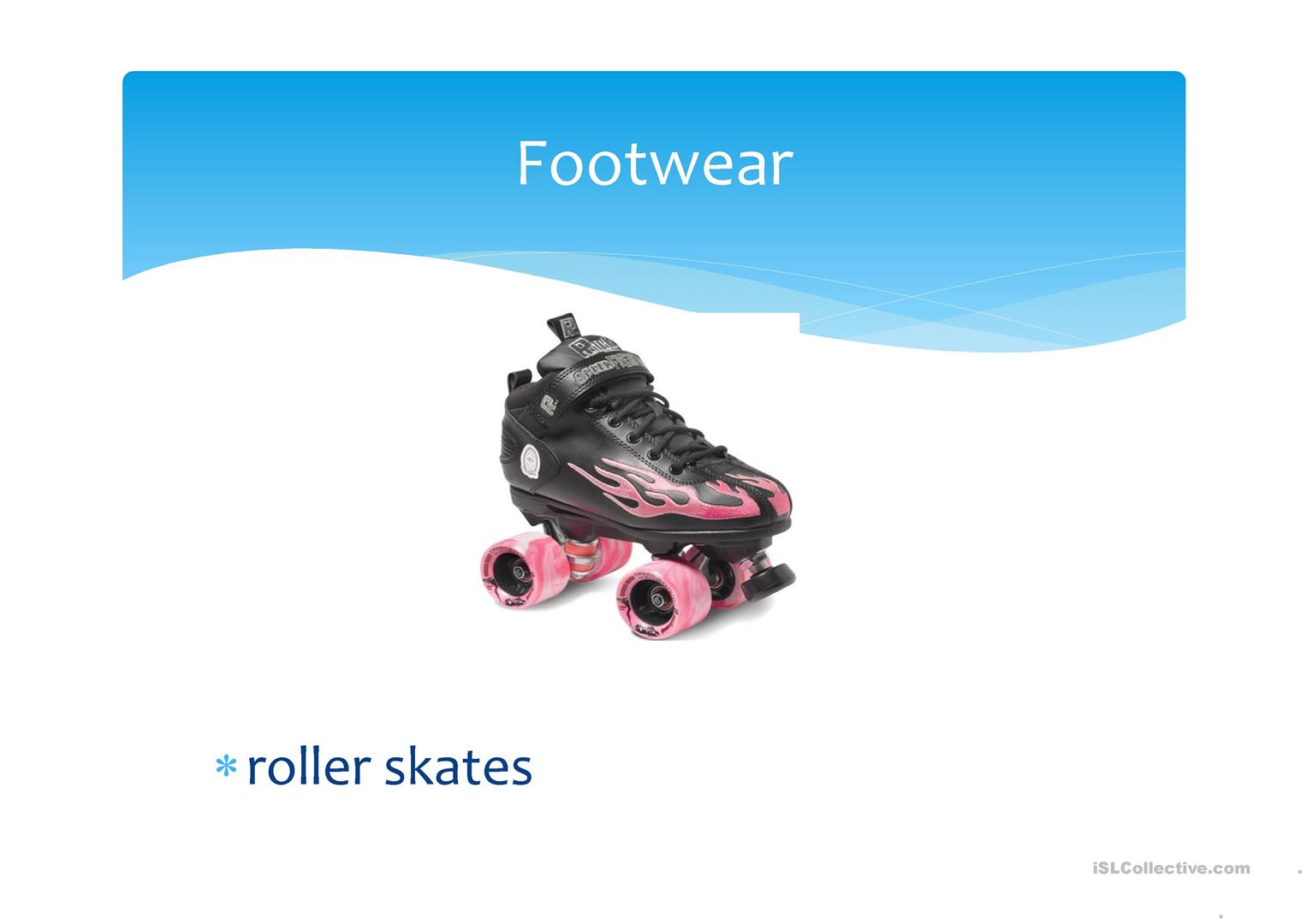 Footwear Shoes And Others Worksheet
