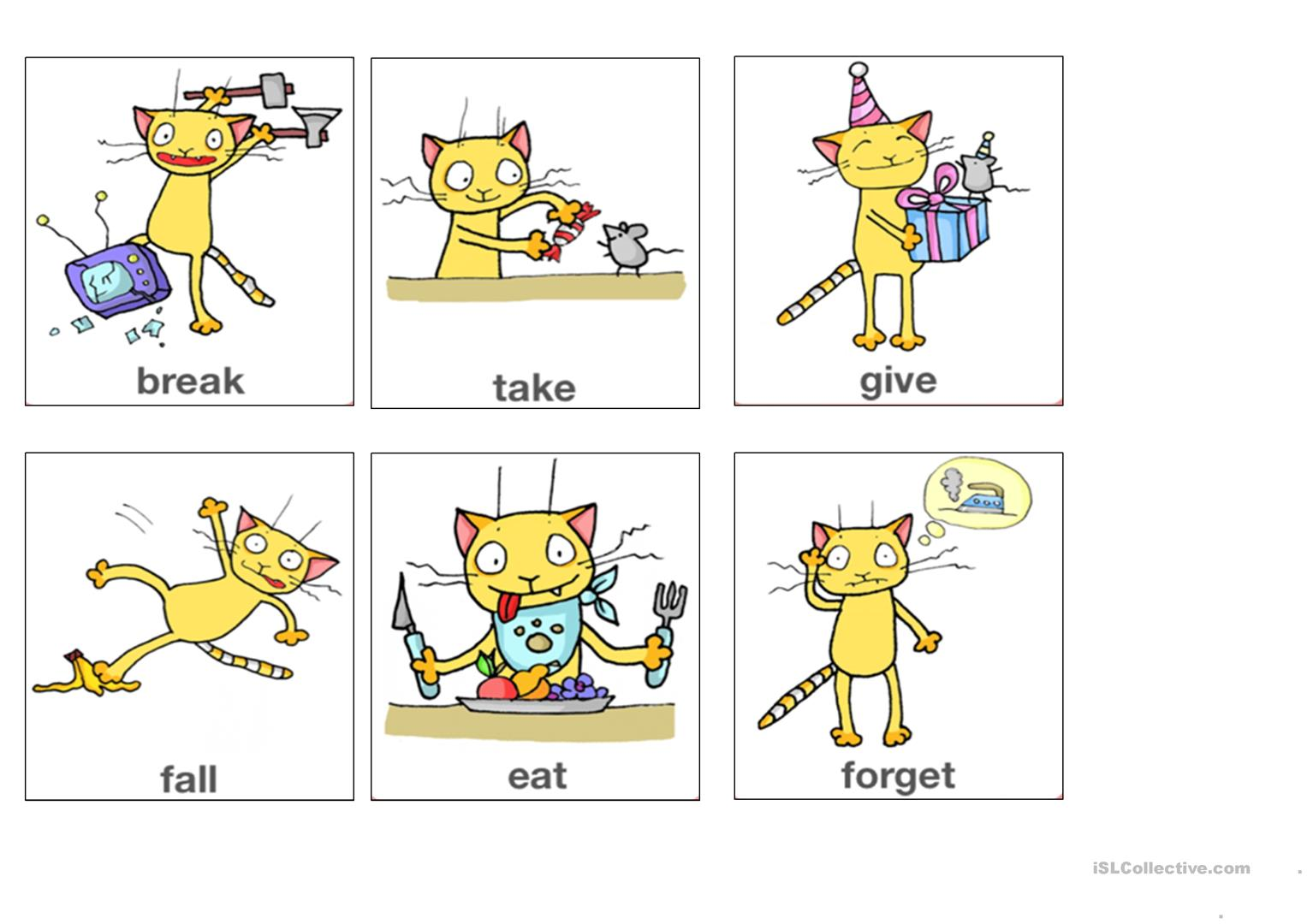 Irregular Verbs Flashcards Part 2 From App Worksheet