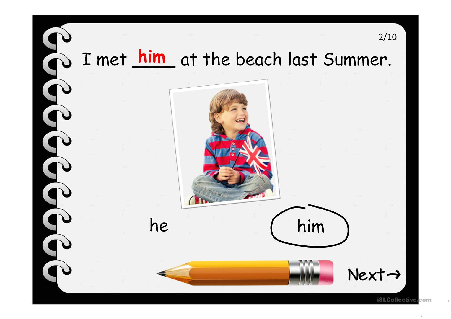 Subject Object Pronouns Worksheet