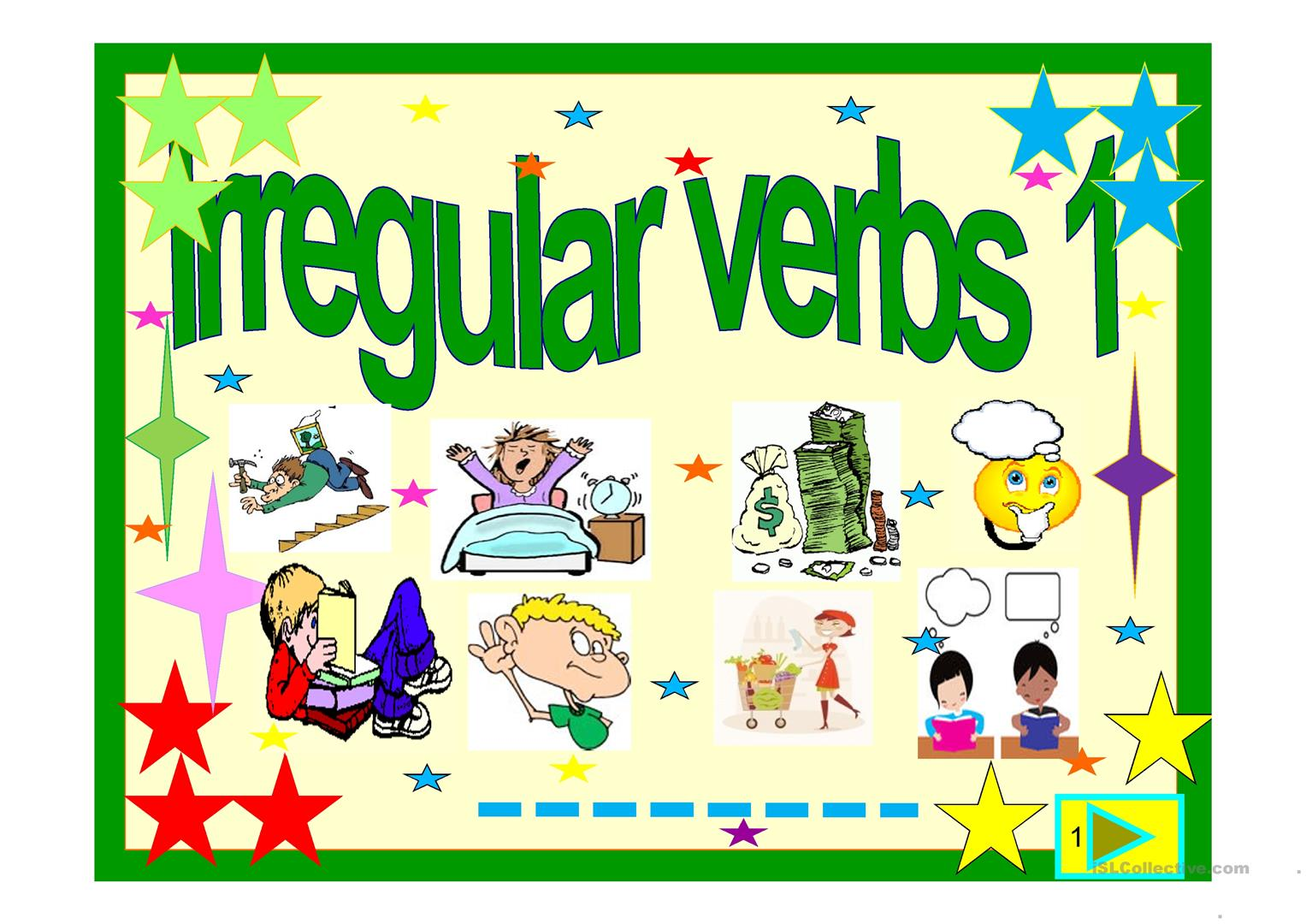 Irregular Verbs Powerpoint 1 Worksheet