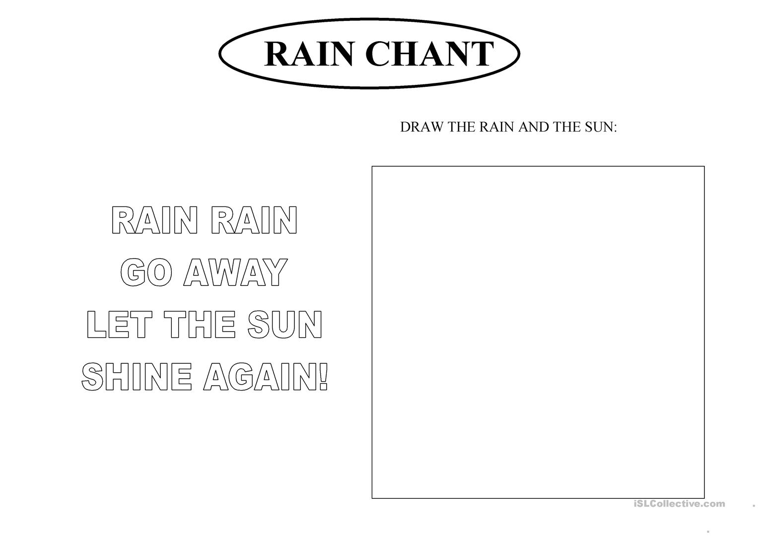 Rain Chant Worksheet