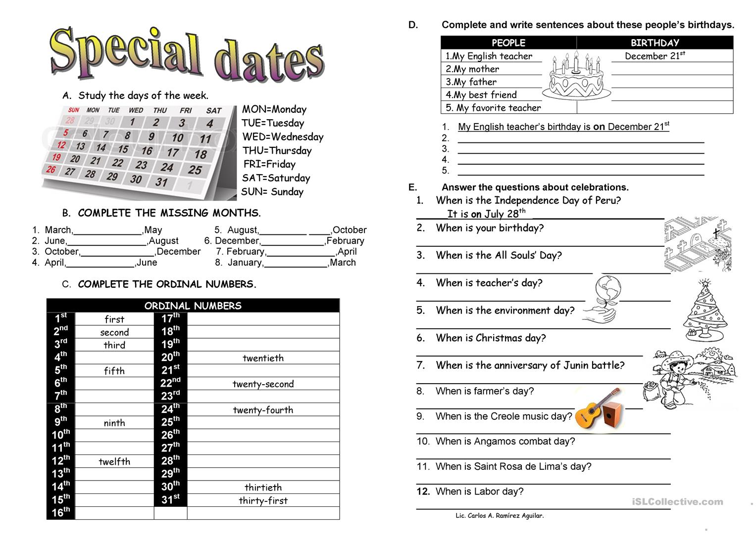 Special Dates Celebrations