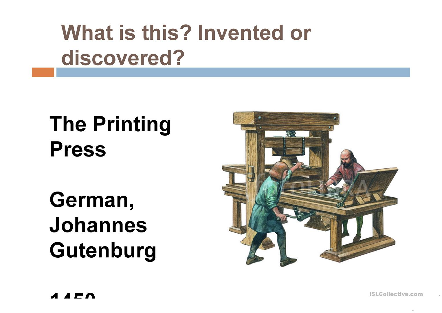 Discoveries And Inventions That Changed The World Worksheet