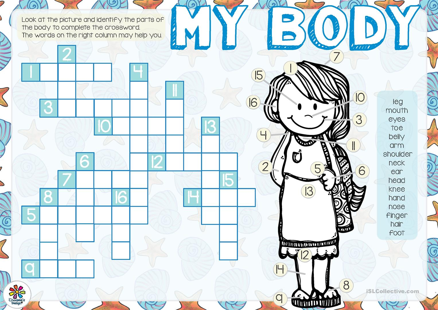 My Body Crossword