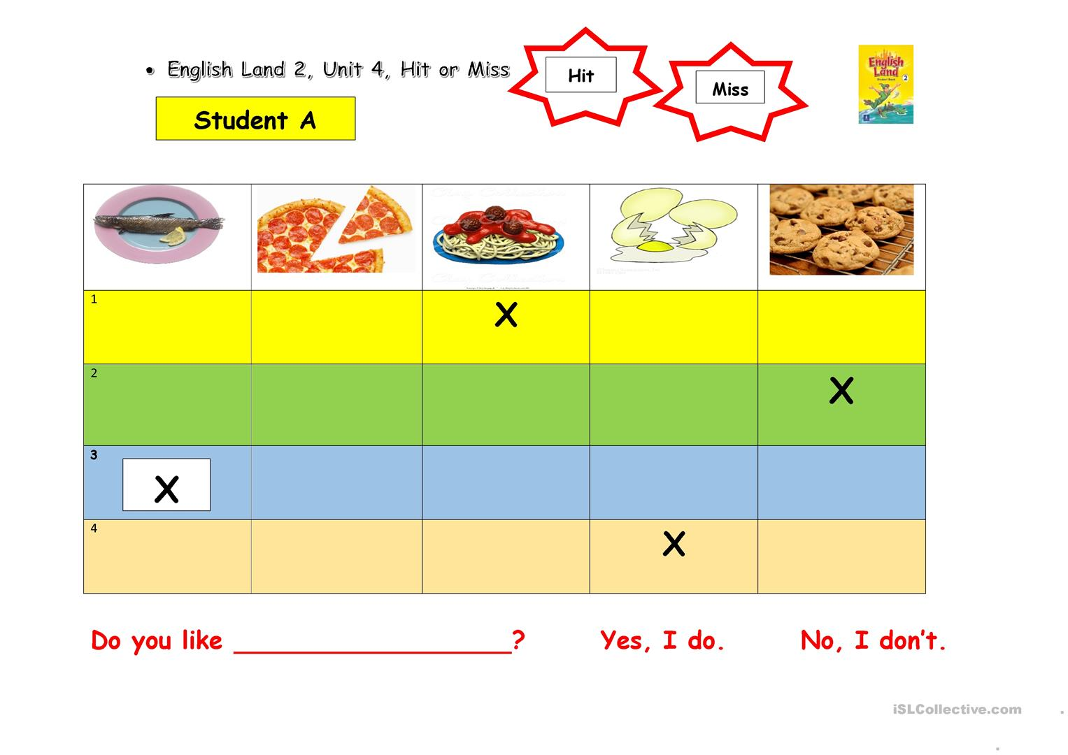 Do You Like Food Worksheet