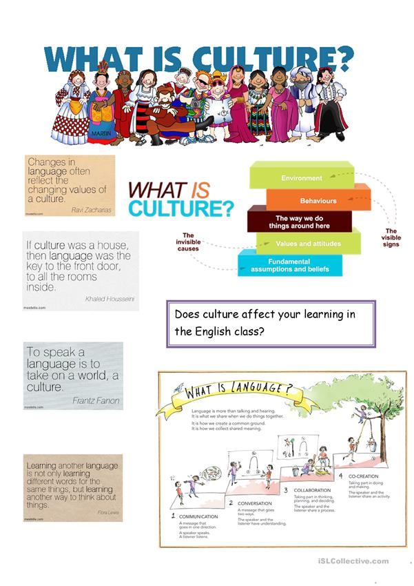 Culture And Language Worksheet