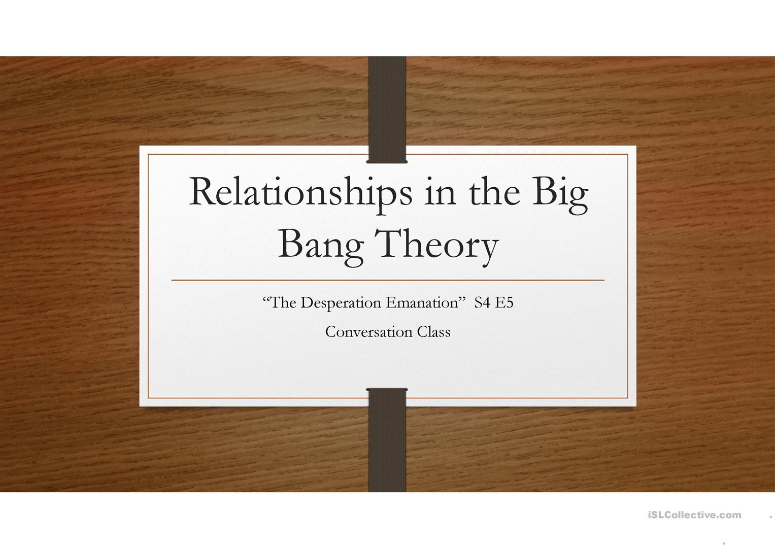 Conversation Class Relationships In The Big Bang Theory