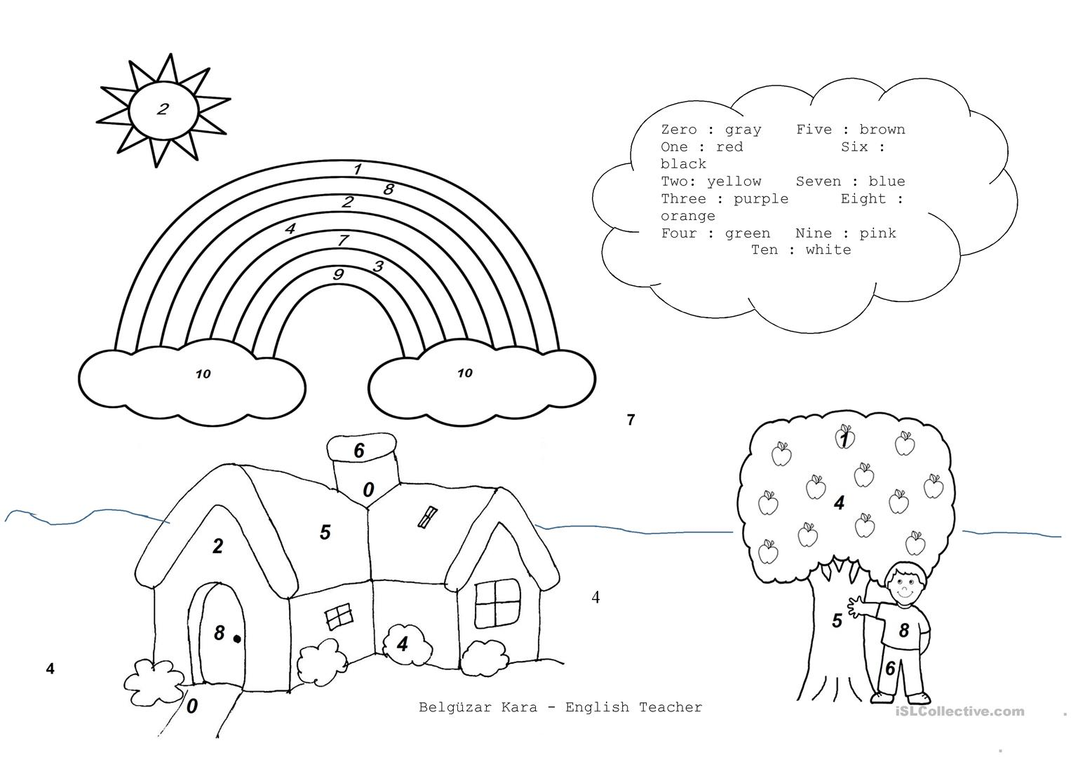 Coloring Pages For Esl Students