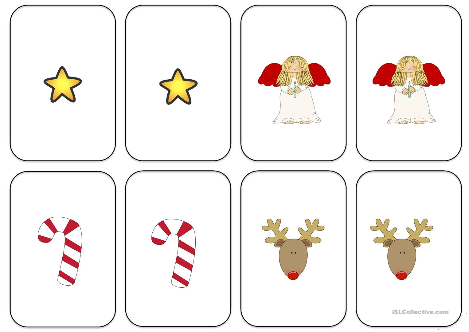 Christmas Go Fish 10 Words