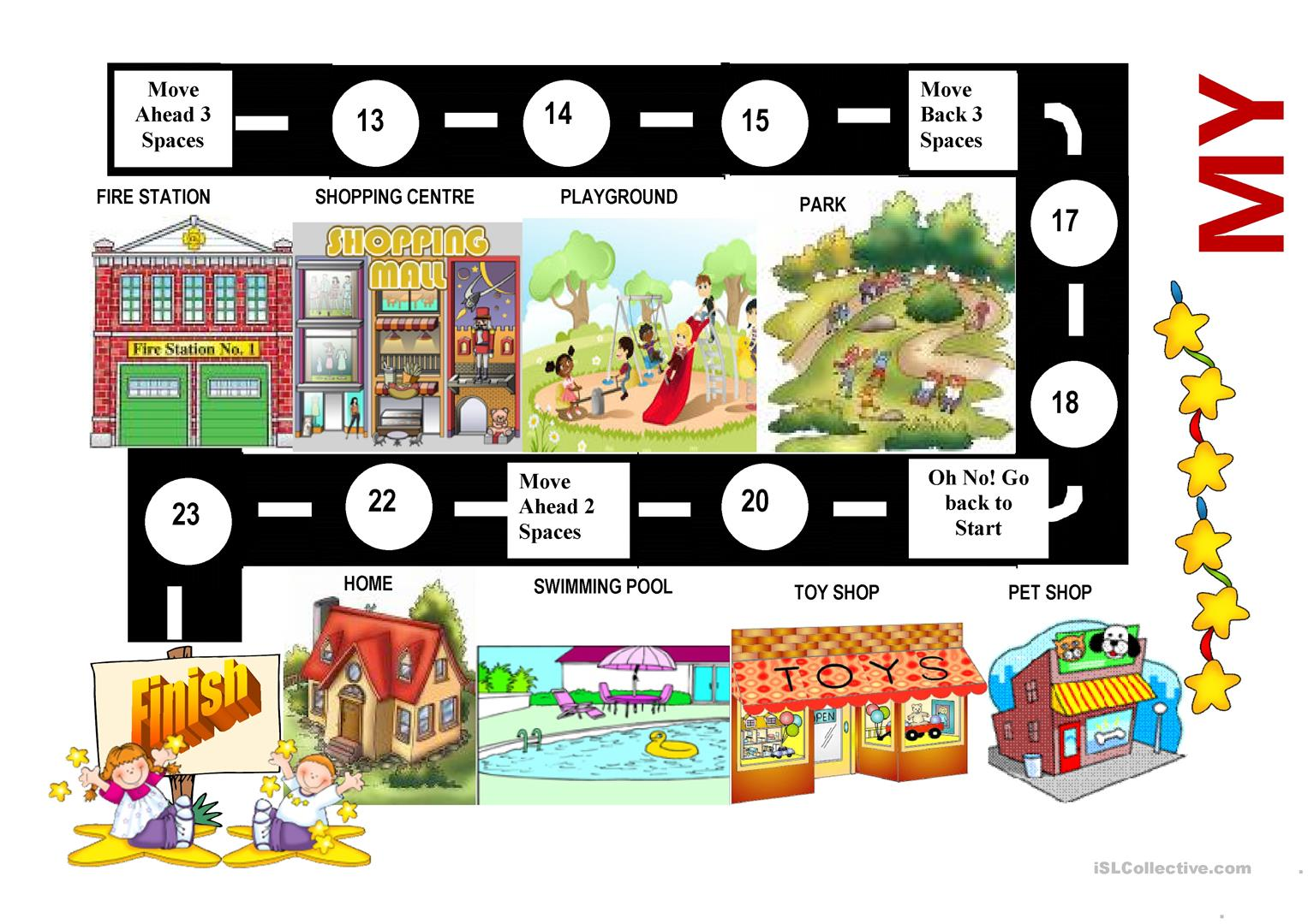 My Town Board Game With Task Cards
