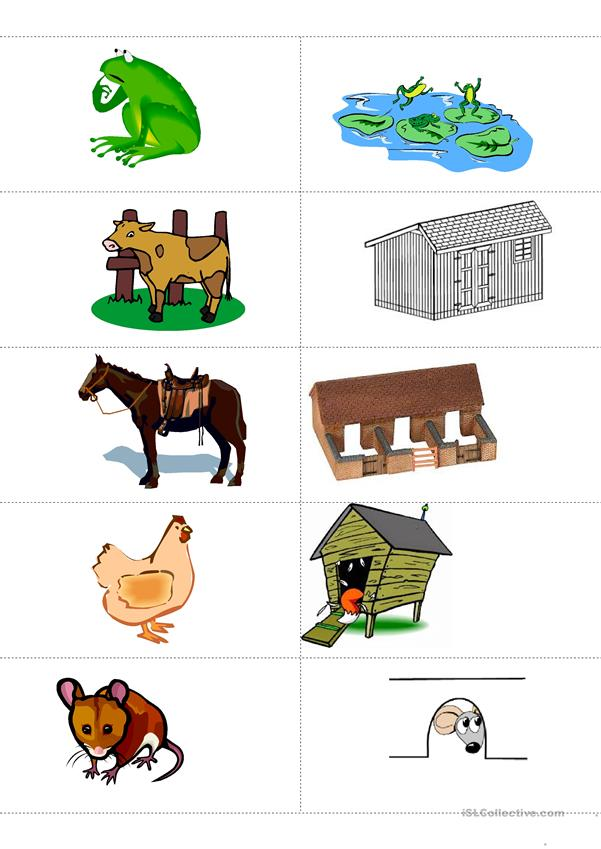 Animals And Their Habitat Memory Flashcards English Esl Worksheets For Distance Learning And Physical Classrooms