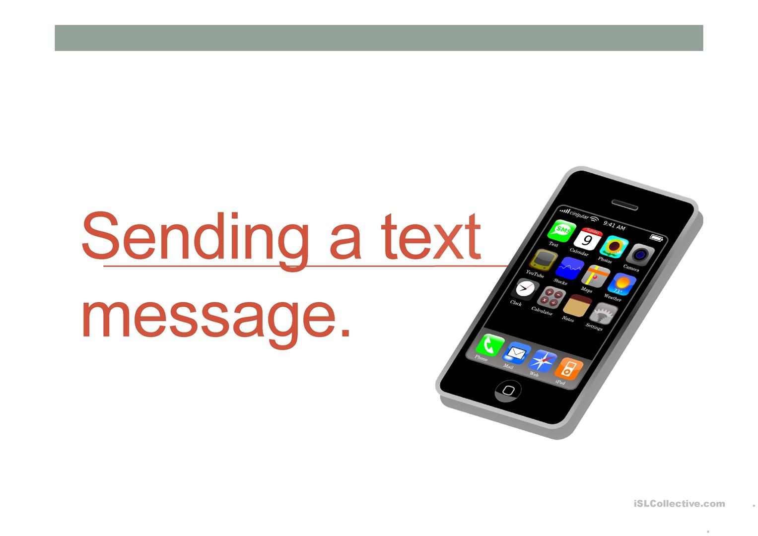Reading And Writing A Text Message Worksheet