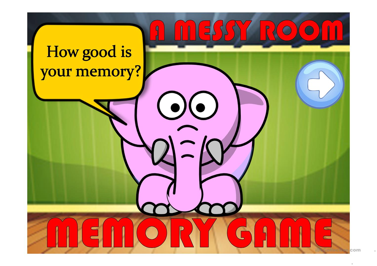 A Messy Room 1 A Memory Game Prepositions