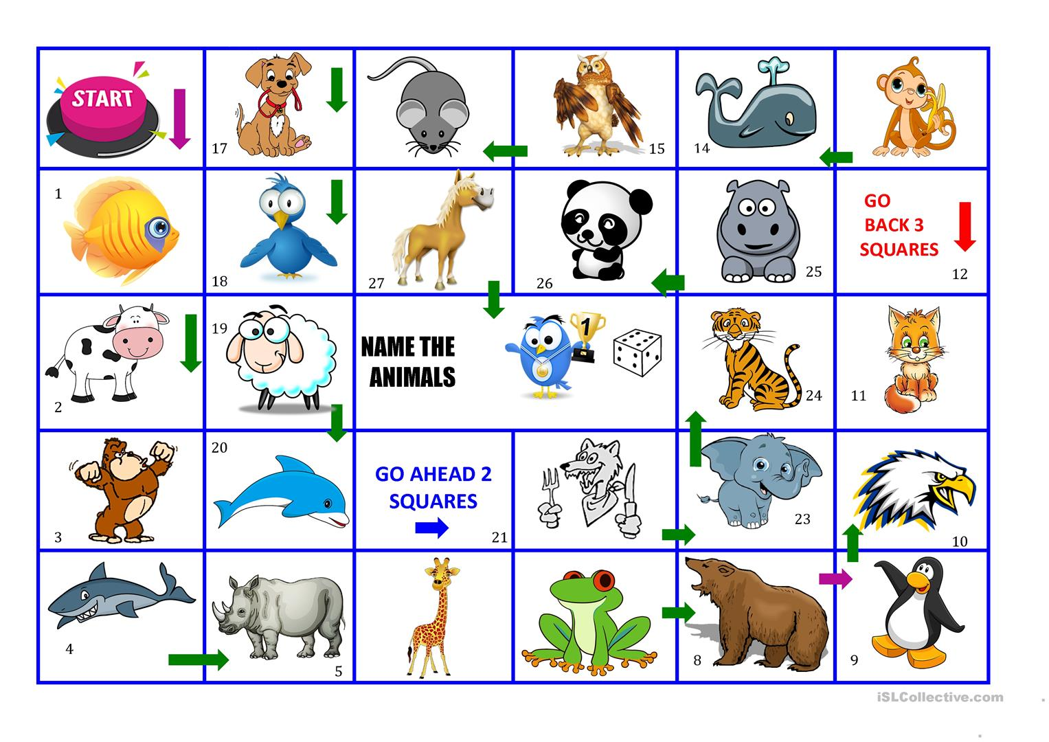 Animals Board Game