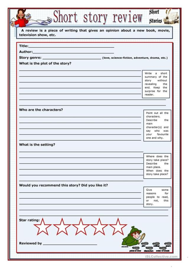 Short story review - English ESL Worksheets for distance learning