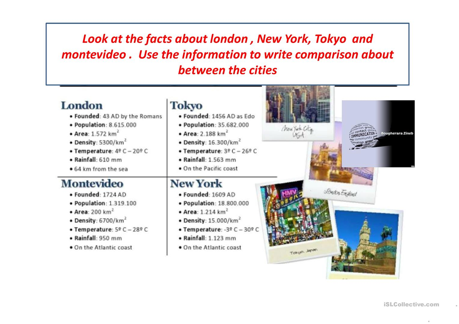 Comparing Countries By Bougherara Zineb Worksheet