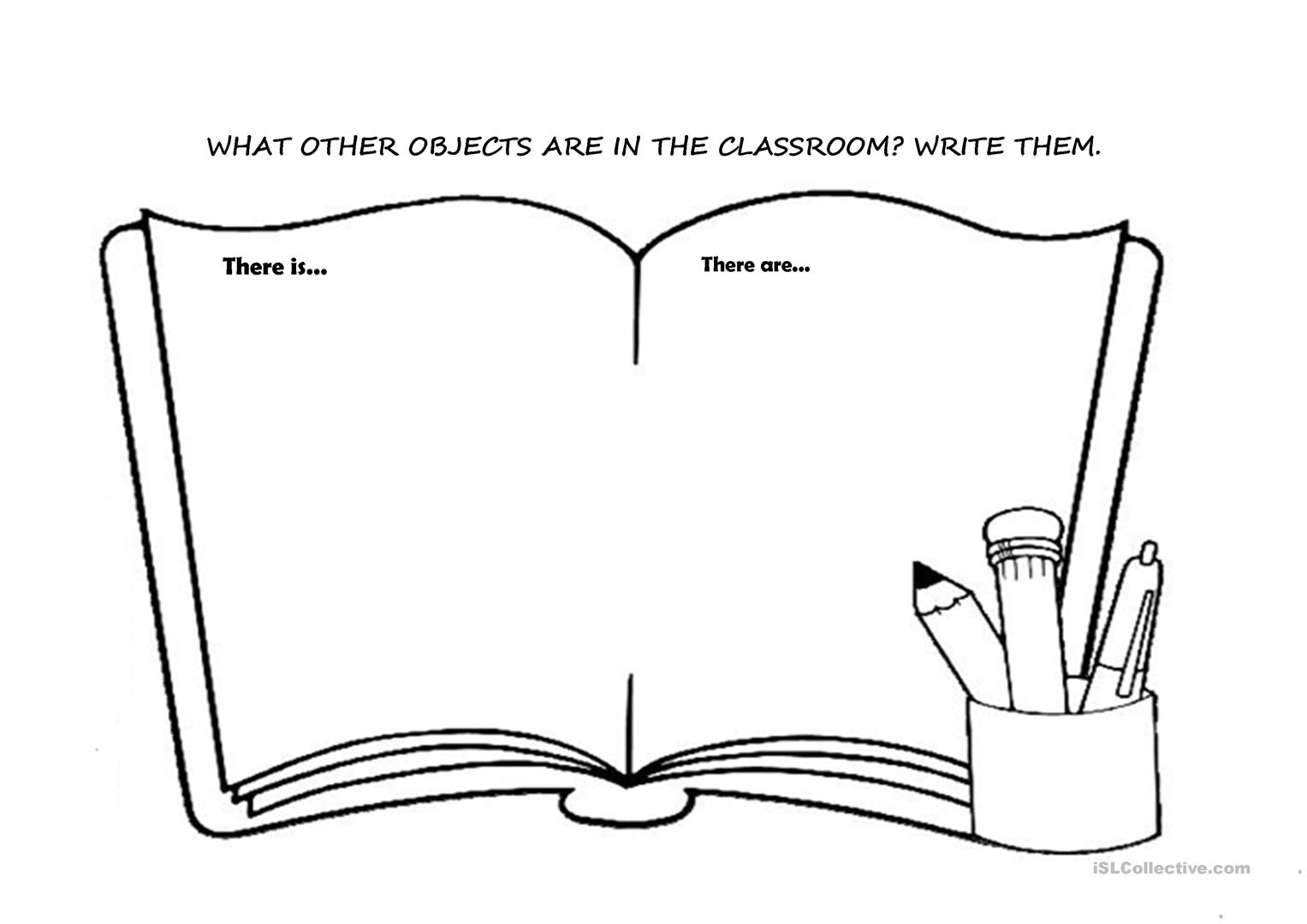 Classroom Objects There Is There Are