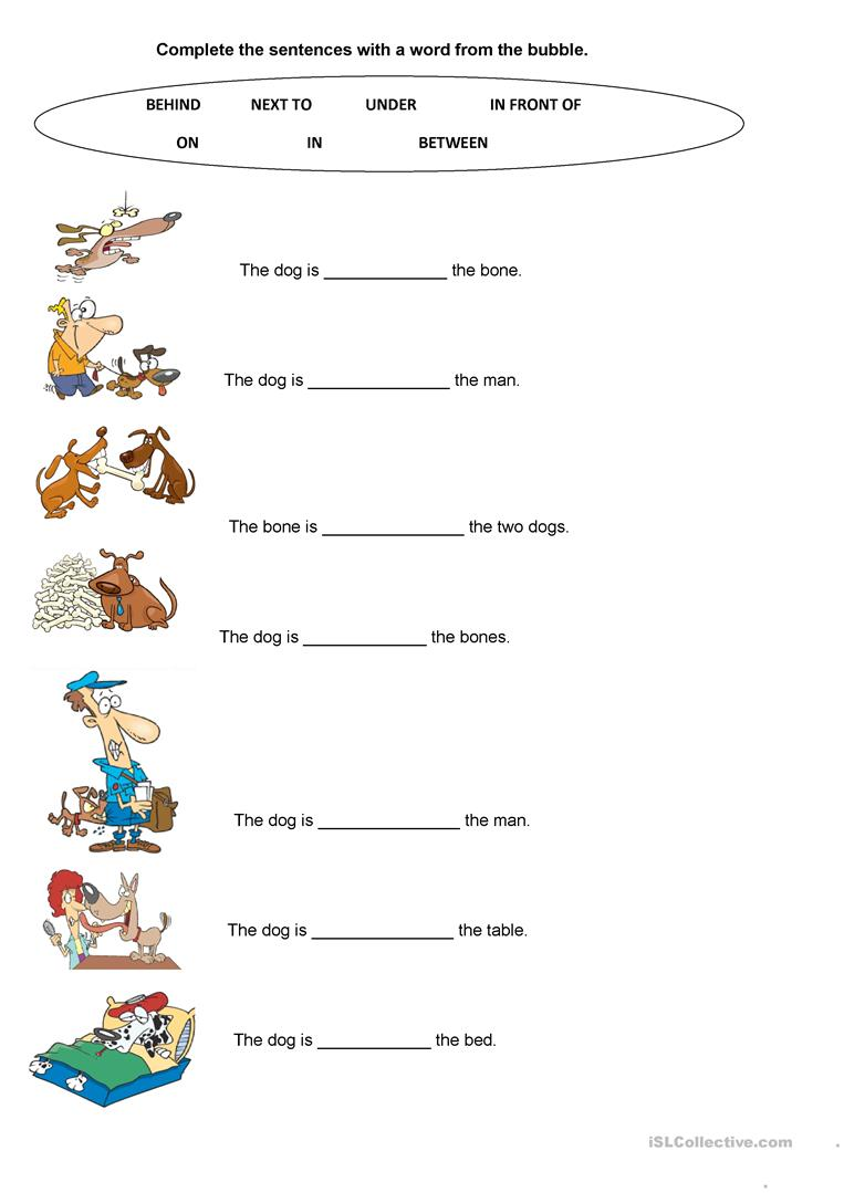 Let S Work With Prepositions Worksheet