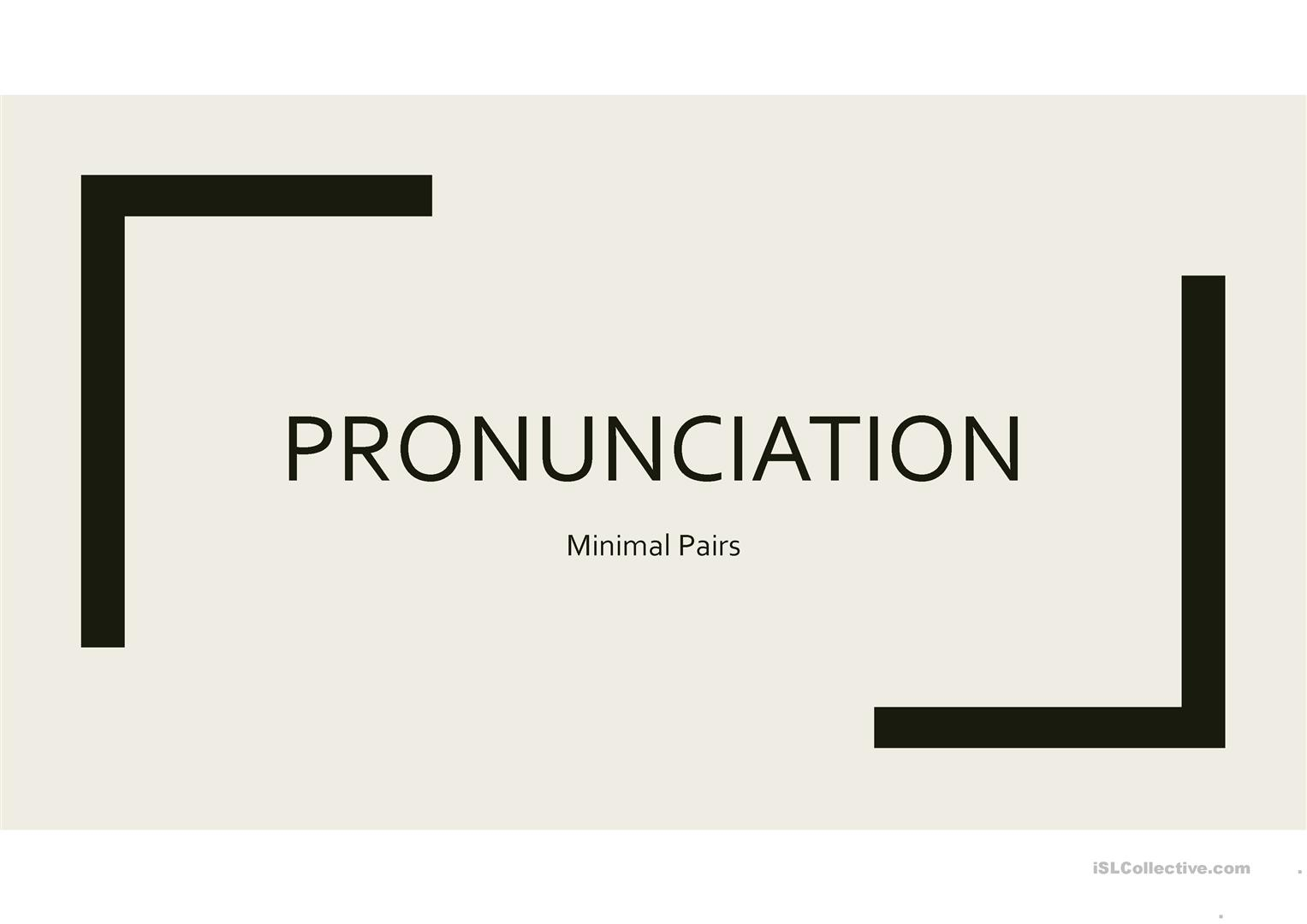 Minimal Pairs Powerpoint Game Template Worksheet