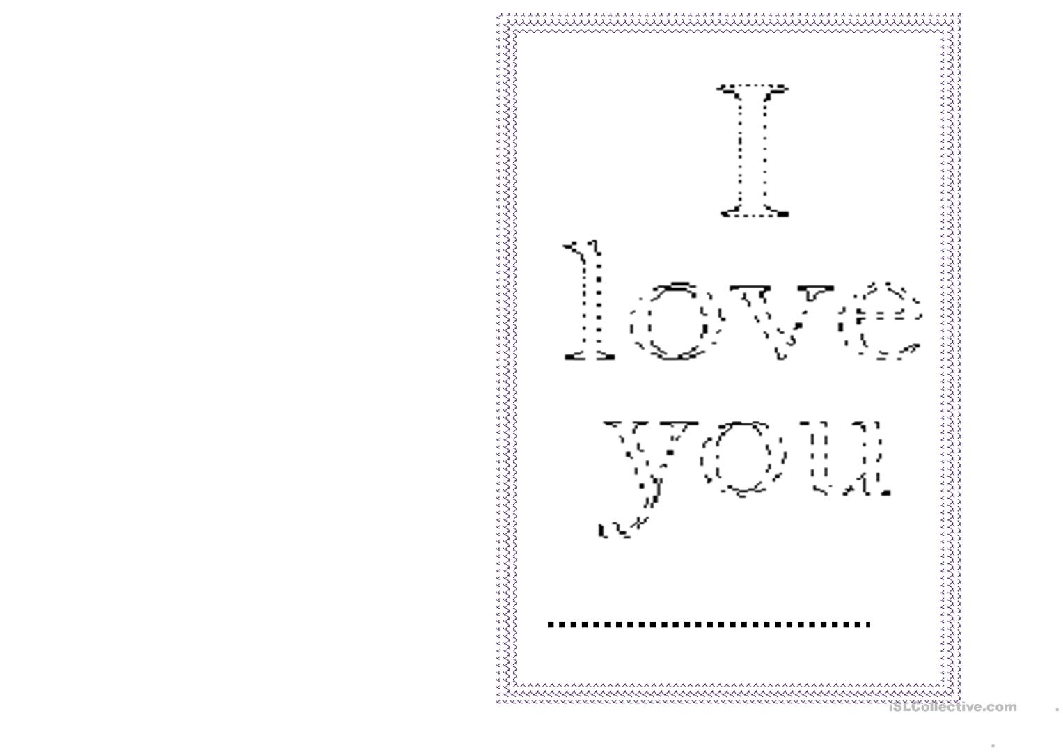 Mother S Day Greeting Card Worksheet
