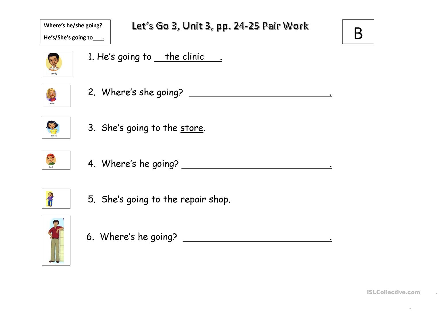 Where S He Going Worksheet