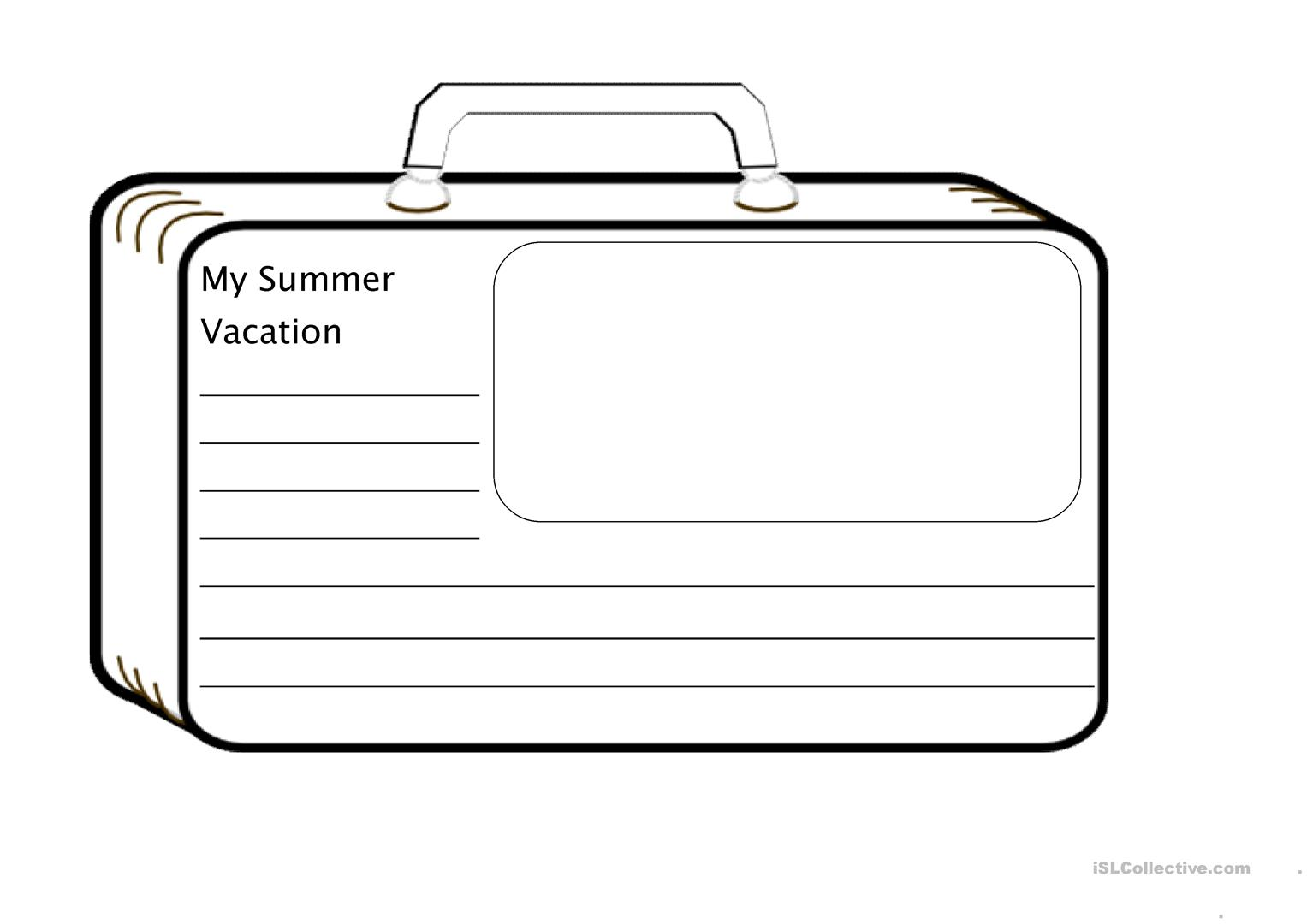 Esl Worksheet Summer Holiday