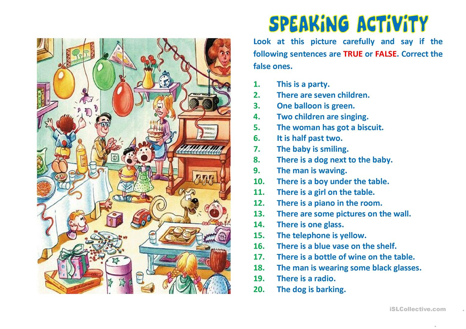 Speaking Activity