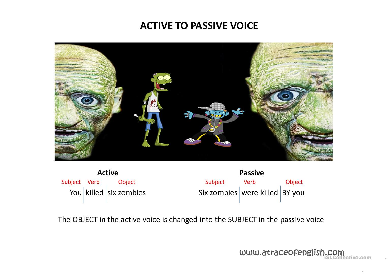Understanding The Active Amp Passive Voice Worksheet