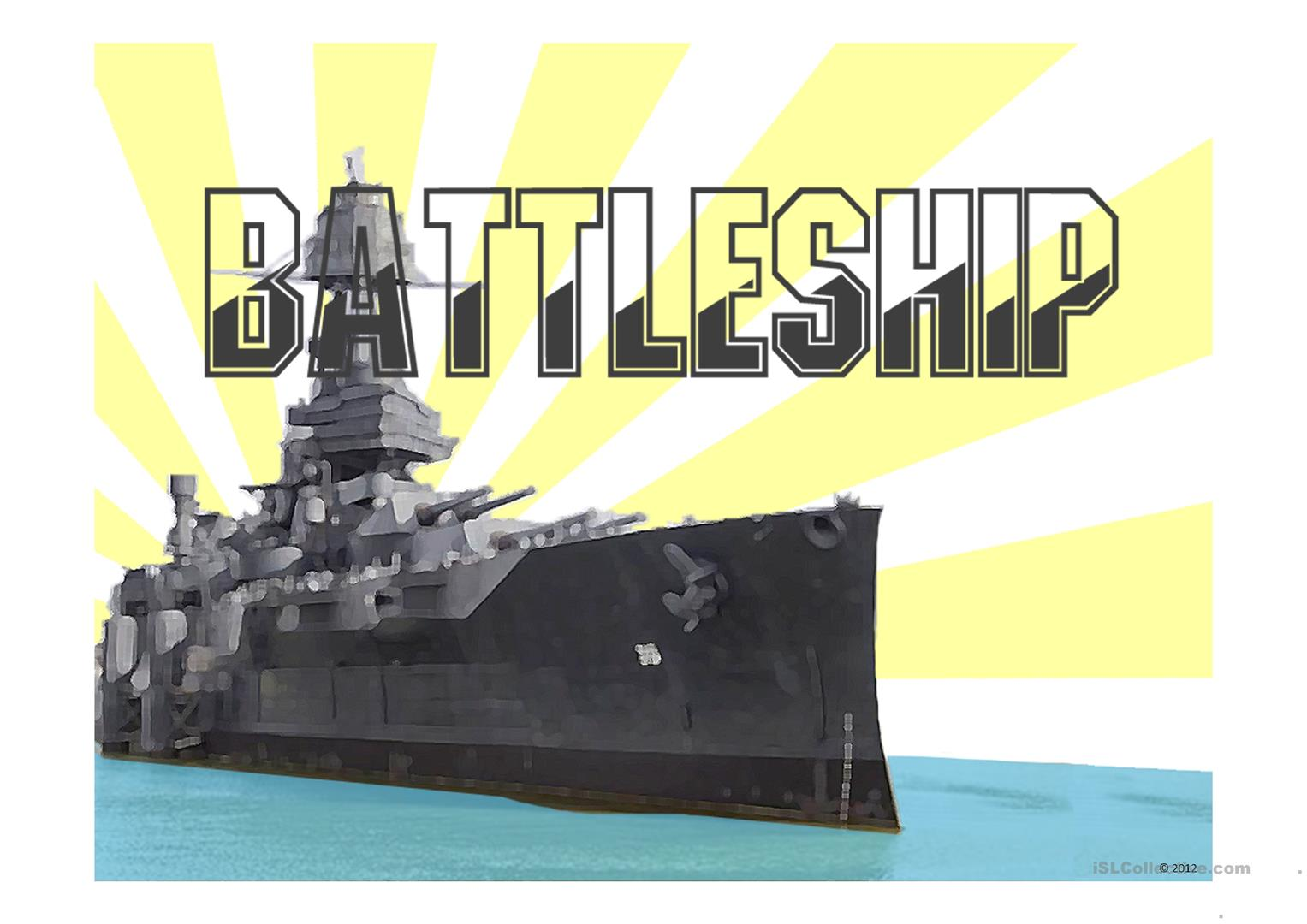 Battleship Game Power Point Template Worksheet