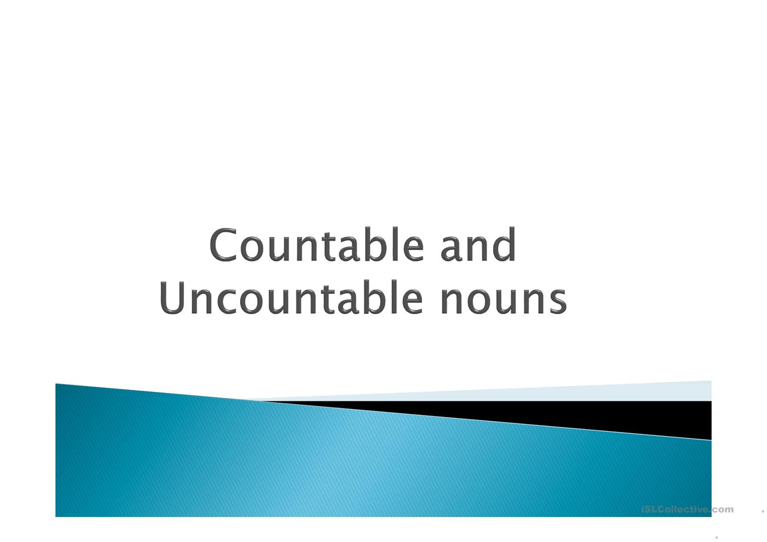Countable And Uncountable Nouns Some And Any