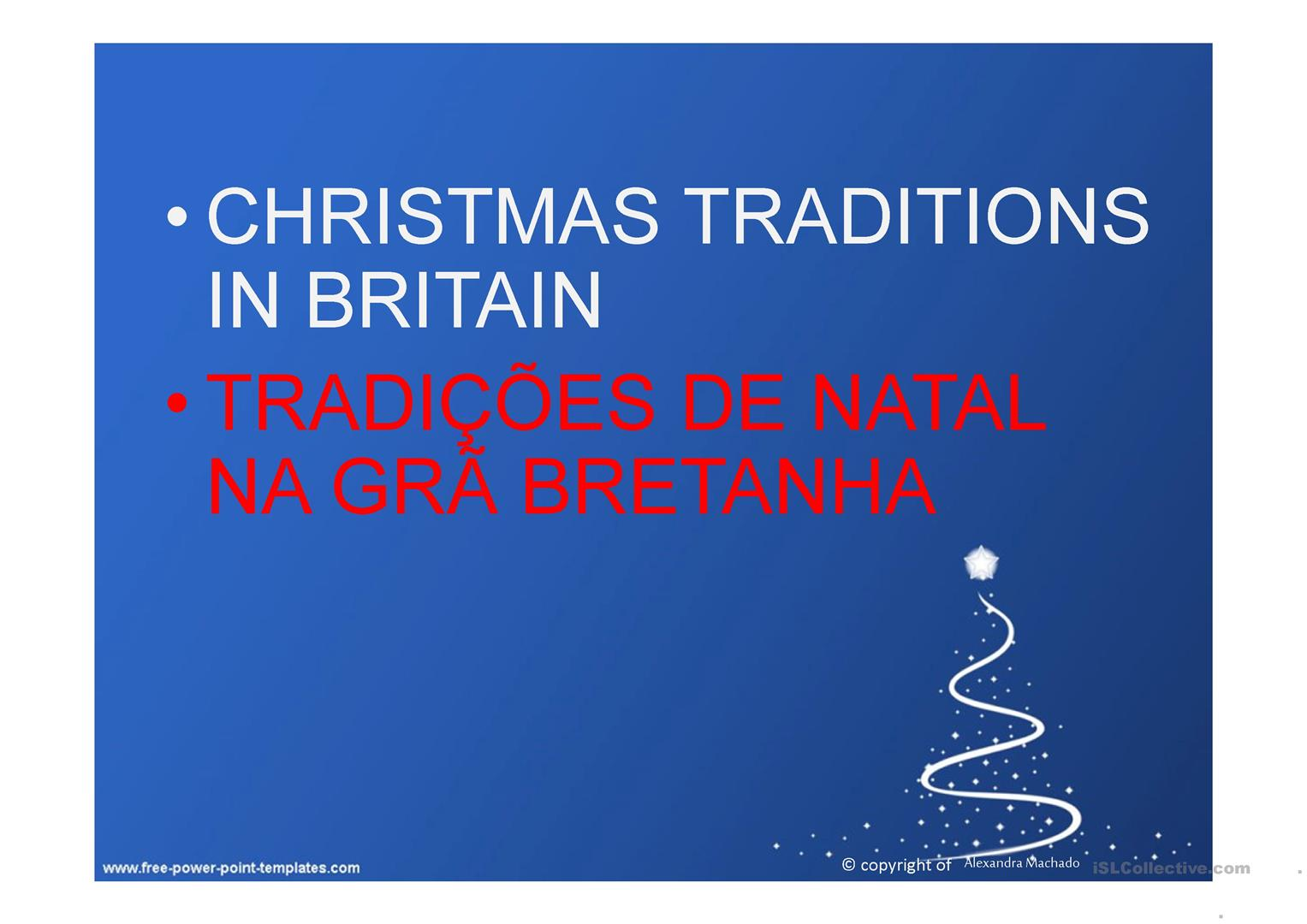 Christmas Traditions In Great Britain Worksheet