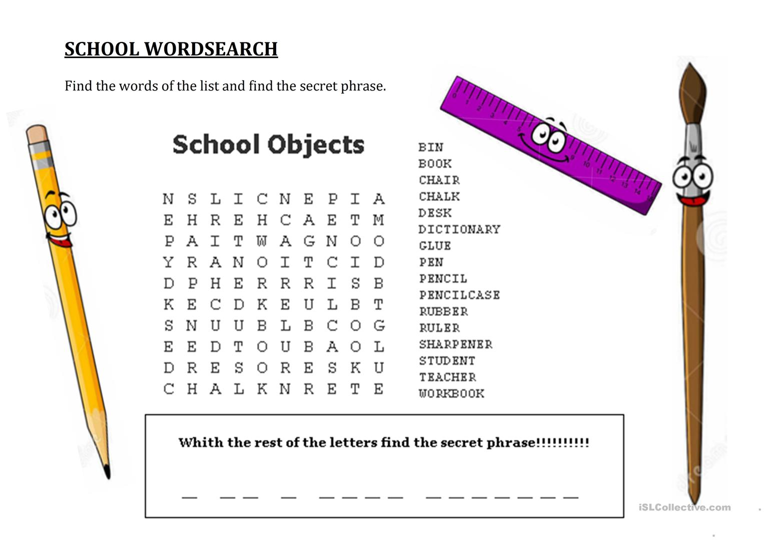 Hidden Message Worksheet