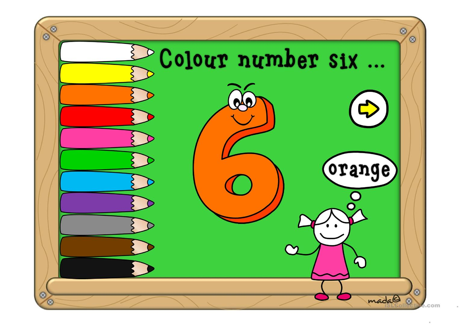 Colours And Numbers With Sound Worksheet