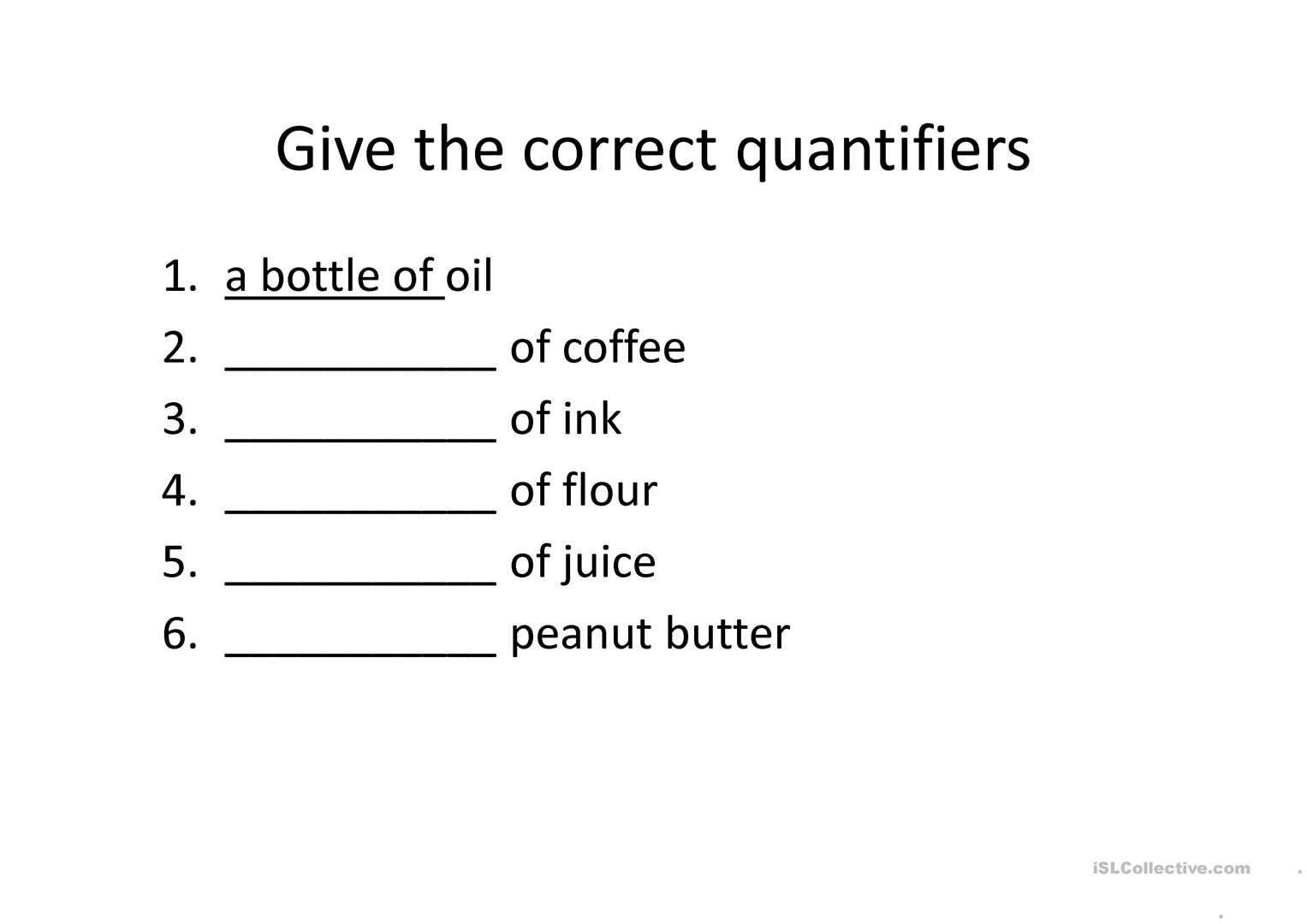 Quantifiers Worksheet Free