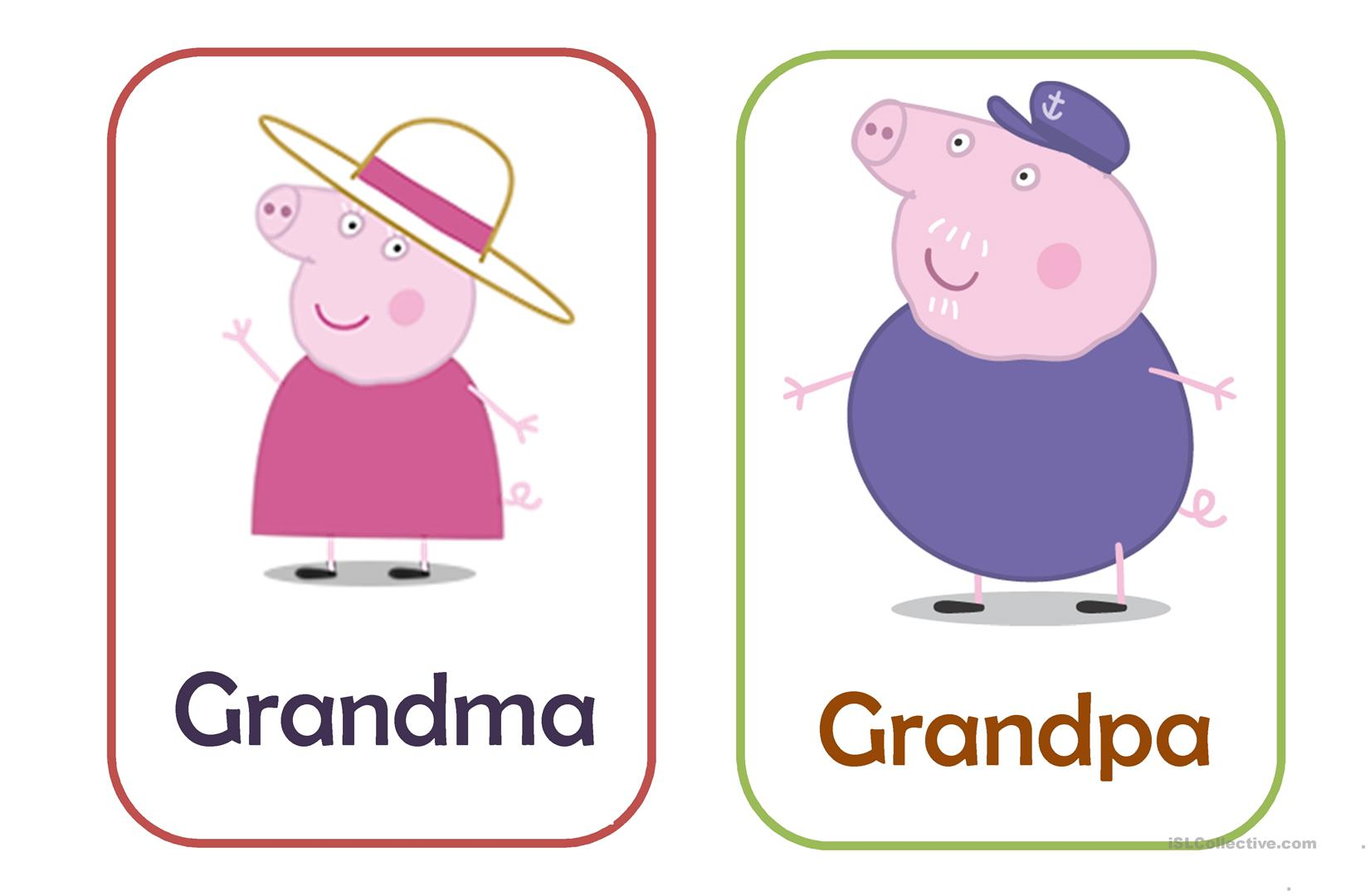 Family Pig Flashcards