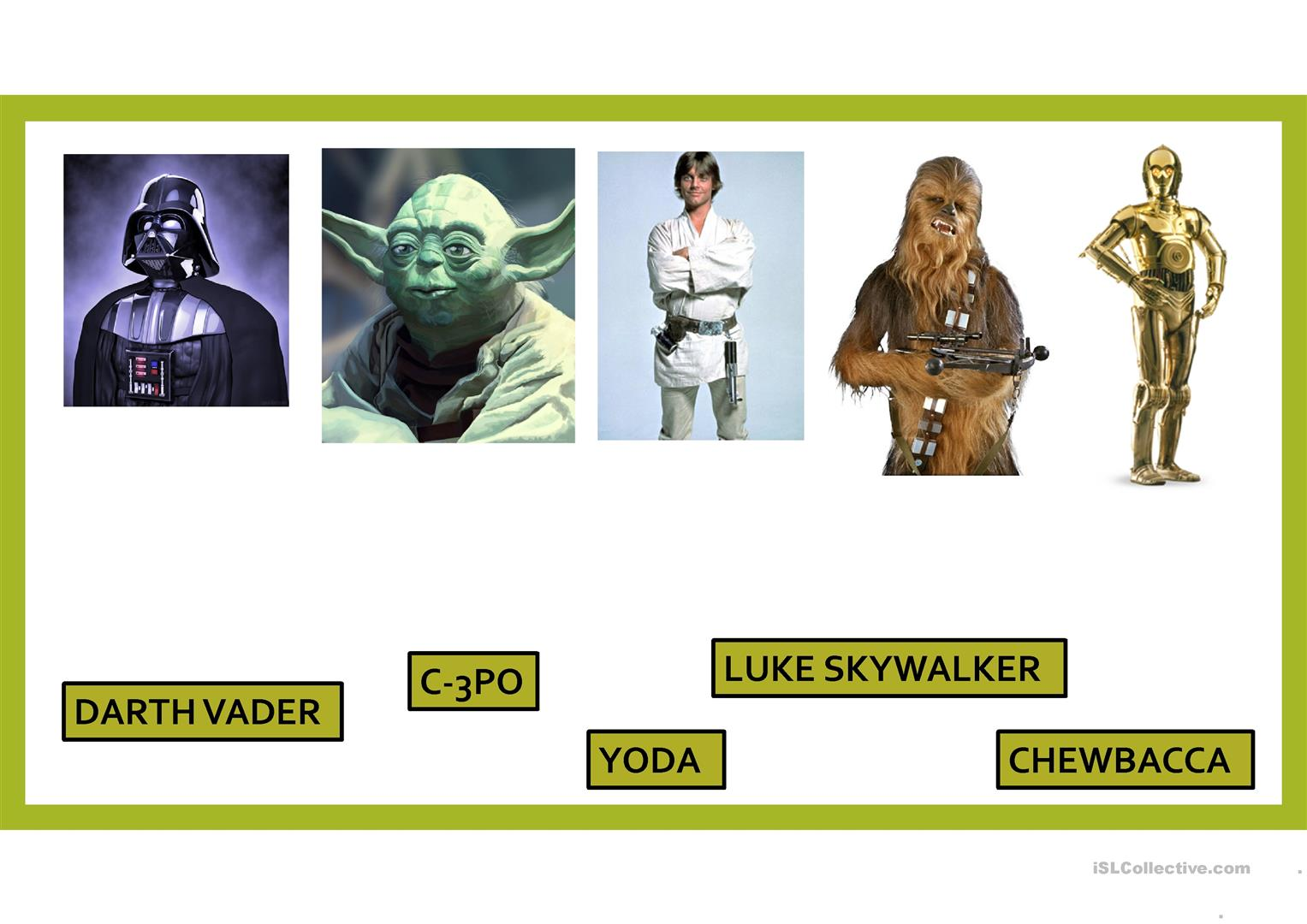 Star Wars Worksheet