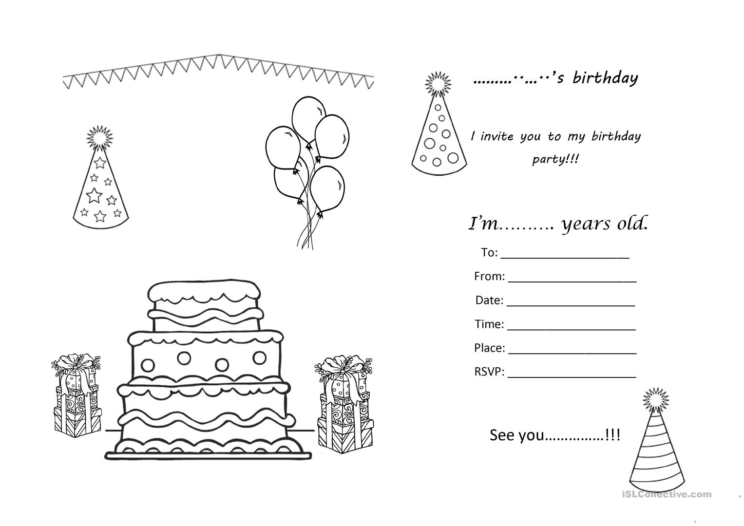 birthday worksheet for esl beginners printable worksheets and activities for teachers parents. Black Bedroom Furniture Sets. Home Design Ideas