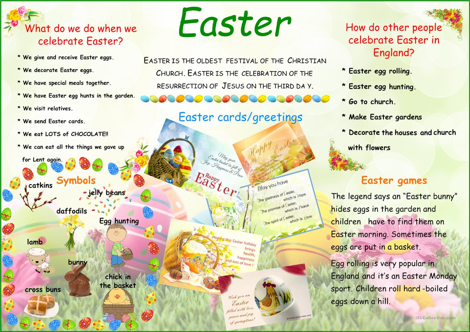 Easter Poster Worksheet